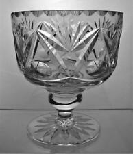 One Crystal Cut Glass Pedestal Bowl Perfect Present Unknown Maker