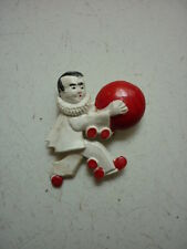 BROCHE PIERROT GOURMAND  /  ANNEES 60