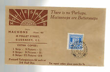 1946 Guernsey Channel Islands Occupation Stamp on Cover Moviesnaps Commercial