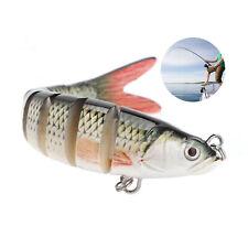 2PCS Multi Jointed Fishing Lure Lifelike Swimbait Pike Bass Salmon Carp Bait