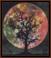 Winter Scene in Moonlight Henry Farrer Counted Cross Stitch Pattern