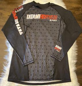 Tatami Fightwear RashGuard Spandex Shirt MMA Martial Arts Jiu Jitsu Mens Size XL