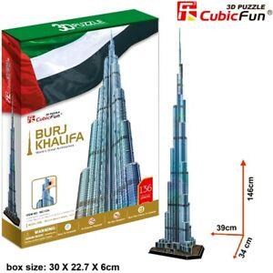 CUBIC FUN Burj Al Khalifa Dubai 3D Architecture Model DIY Puzzle Building Kit