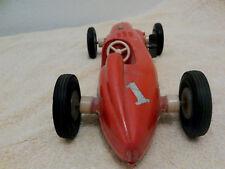 ANTIQUE VINTAGE PLASTIC WIND UP INDY #1 RACE CAR