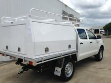 New Alloy Tray Canopy Combo 1800L x 1800W x 860H Powdercoat White with rack