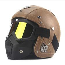 Helmet German Style Motorcycle Half Dot Cruiser Harley Novelty Black Size Lens
