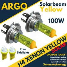 2 X H4 Xenon Gelb 100w Vorne Fernlicht Scheinwerfer 501 Standlicht Lampen