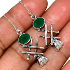 Emerald 925 Sterling Silver Earring Jewelry AE147059 379P