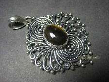 P3107 FASHION Tiger Eye Stone White Metal Tribal Ethnic handmade Pendant TIBETAN