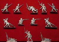 Indische Infanterie 1. Weltkrieg - 12 Fohler Zinnfiguren 30mm - blank