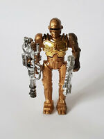"Rare ROBOCOP BOOTLEG Gold Chrome With Weapons 4"" Figure EXCELLENT CONDITION"