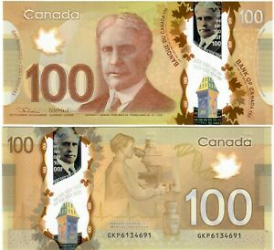 "Canada 100 Dollars 2012 (2021) UNC ""GKP"" Lane-Macklem"