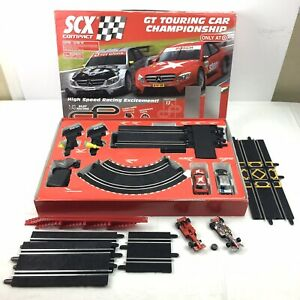 SCX Compact GT Touring Car Slot Racing Track Mercedes 1:43 Crossover Track