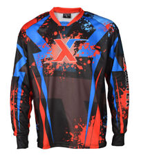 Paintball Jerseys Long Sleeve For Men Padded Shirts Sublimation Red Blue Exalter