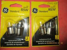 R5W--GE--LOT OF 4--[2 CARDS]- Tail Light Bulb Twin Blister Pack  R5W/BP2