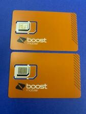2-Pack Sim Card Expanded Network-Tn (Boost Mobile) For iphones & Androids - New