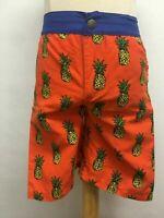 Appaman Kids Boys Swim Trunks Shorts Pockets Orange Blue Yellow Pineapples