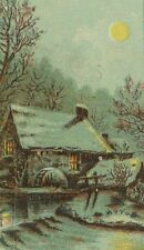 1870's Weinberg's Palace Shoe House, Slippers Boots Winter Moon Trade Card F92