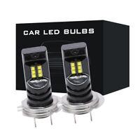 2pc H7 55W 15000LM 6000K White Canbus LED Car Headlight Fog Light Lamp Car Bulb