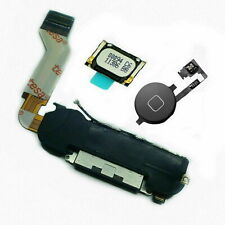 For iPhone 4s Charging Port Flex Cable Loud Speaker + Ear Speaker + Button Black