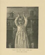 ANTIQUE VICTORIAN GIRL CHILD CLAPPING HANDS MAUD HUMPHREY VICTORIAN ART PRINT