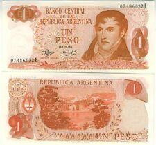 ARGENTINE billet neuf 1 PESOS BELGRAND Pick287 BARILOCHE LIA LIAO  1970