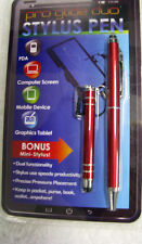 STYLUS PEN WITH BONUS MINI STYLUS CHOICE OF ASSORTED COLORS-PRO GLIDE DUO