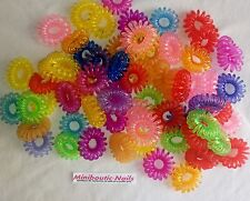 Lot 100 mini elastic hair telephone wire fun new/by miniboutic nails