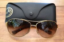 Ray-Ban Sunglasses; RB 3386; With case; 63x13; Gold and Tortoiseshell; RRP £134