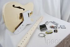 DIY 12 STRING TELE  SEMI-HOLLOW CHAMBERED ELECTRIC GUITAR KIT