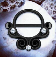 Zena | Black Nipple Bar Nipple Bars Nipple Ring Nipple Rings Nipple Piercings