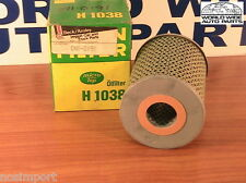 BMW 2500 2800 3.0 530i   Oil Filter Cartridge   MANN H1038 1969-1977