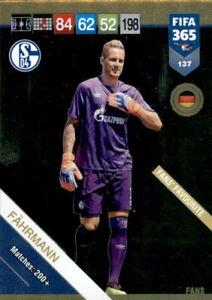 CARD PANINI ADRENALYN FIFA 365 2018 2019 N.137 FAHRMANN SCHALKE FANS FAVOURITE