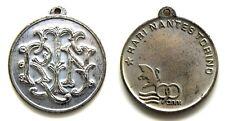 Medaglia 90 Anni Rari Nantes Torino Nuoto, Metallo Argentato cm 3,2 Peso g 12,3