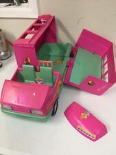 Barbie Magical Motor Home Van Camper RV Pink Green Mattel As Is Missing Pieces