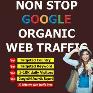 Unlimited Non Stop Organic Website Traffic For Life | 1-10K Daily