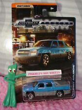 CHEVROLET 100 YEARS '02 CHEVY AVALANCHE☆BLUE/GRAY SUV TRUCK☆2018 MATCHBOX☆