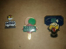 LOT 3 PIN'S série Glace (Gervais, Miko, plein sourire)