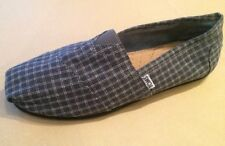 TOMS Classic Charcoal Gray Checkered NEW Men's Size 9 Slip-On Shoes