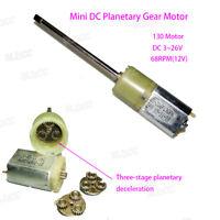 DC 12V 24V 130 Long Shaft Micro Gear Motor High Torque Planetary Geared Motor FY