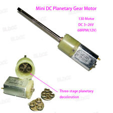 3-26V DC 68RPM High Torque Long Shaft Mini 180 Metal Gear Motor Planetary Box EL