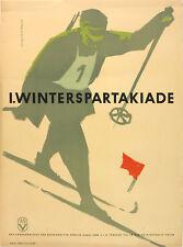Vtg Orig, Poster I. Winterspartakiade 1961, Military Ski sport Poland