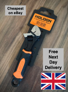 """HOLDON 6""""/150mm ADJUSTABLE WRENCH HARDENED STEEL SOFT GRIP HANDLE - FREE P&P NDD"""