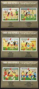 Yemen North 1982 Soccer FIFA World Cup Michel #1753-58 S/S (3) MNH
