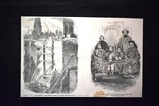 Locali caduti in Gracechurch street - Famiglia Cinese Incisione del 1851