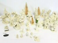 Lot Of 33 Snowbabies Miniatures to larger Retired estate collection Animals Tree