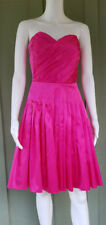 BETSEY JOHNSON Pink Silk Charmeuse Strapless Party Dress 6