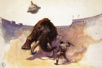 Mastodon by Frank Frazetta Art Print Poster 12x18 inch