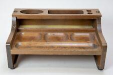 VINTAGE Wooden DESK SET MAIL OFFICE ORGANIZER AND PEN HOLDER