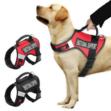 ESA Harness for Large Dogs No Pull Emotional Support Therapy Dog Service Vest